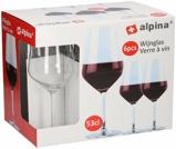 Afbeelding vanAlpina Wijnglazen Voor Rode Wijn 53 cl 6 Stuks