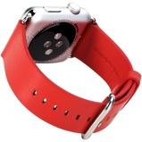 Afbeelding vanRock Genuine Leather Watchband Apple Watch 4/5 44MM 1/2/3 42MM Red
