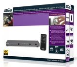 Afbeelding vanMarmitek HDMI switcher 4:1 Ultra HD Connect 621 UHD 2.0