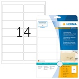 Afbeelding vanHerma Adresetiketten 8671 transparant mat A4 99,1x38,1 mm ronde hoeken