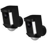 Afbeelding vanRing Spotlight Cam Zwart (batterij) 2 pack Buitencamera's