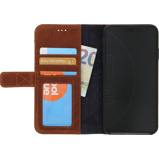 Afbeelding vanDecoded Leather Card Wallet Apple iPhone Xs Max Book Case Bruin