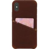 Afbeelding vanDecoded Leather Apple iPhone X/Xs Back Cover Bruin telefoonhoesje