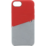 Afbeelding vanDecoded Leather Snap On Apple iPhone 6/6s/7/8 Back Cover Rood
