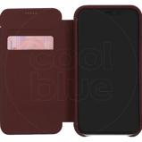Afbeelding vanDecoded Leather Slim Wallet Apple iPhone Xr Book Case Rood