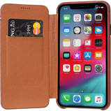 Afbeelding vanDecoded Leather Slim Wallet Apple iPhone X/Xs Book Case Bruin