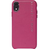 Afbeelding vanDecoded Leather Apple iPhone Xr Back Cover Roze telefoonhoesje