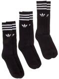 Image ofadidas Originals Solid Crew Socks musta