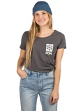Image ofPOW Protect Our Winters Left Chest Logo T-Shirt harmaa