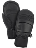 Image ofHestra Leather Fall Line Mittens musta