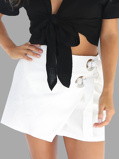 Imagine dinA line Lace Up Mini Skirts in White