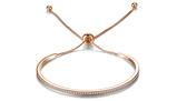 Imagine dinAdjustable Metal Friendship Bracelet with Swarovski Crystals 3 Colours