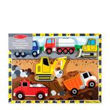 Afbeelding vanMelissa & Doug voertuigen houten vormenpuzzel 6 stukjes