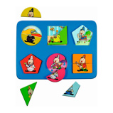 Afbeelding vanStudio 100 Bumba houten vormenpuzzel 12 stukjes