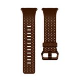 Afbeelding vanFitbit Ionic Lederen Horlogeband Bruin S horlogebandje