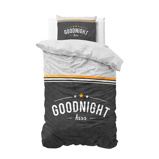Afbeelding vanDreamHouse Bedding Dekbedovertrek goodnight kiss anthracite 1_140x200/220