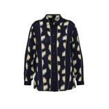 Afbeelding vanAdia geweven blouse met all over print zwart/geel