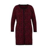 Afbeelding vanAdia fijngebreide jurk met panterprint rood/zwart