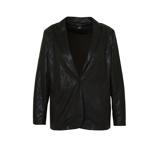Afbeelding vanAdia coated blazer met slangenprint zwart