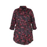 Afbeelding vanAdia gebloemde satijnen blouse grijs/roze