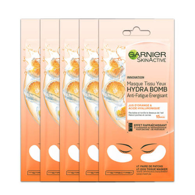 Afbeelding van 20x Garnier SkinActive Tissue Masker Hydra Bomb Orange Oogmasker