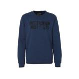 Afbeelding vanAmsterdenim sweater met tekst donkerblauw