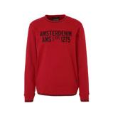 Afbeelding vanAmsterdenim sweater met tekst rood