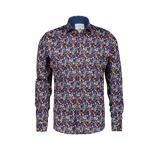 Afbeelding vanA fish named Fred regular fit overhemd met all over print donkerblauw/multi