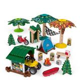 Afbeelding vanFisher Price bouwpakket Wonder Makers Camping hout 70 delig