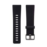 Afbeelding vanFitbit Versa 2 Classic Accy Siliconen Horlogeband Zwart L
