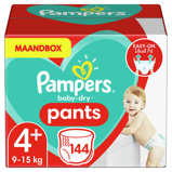 Afbeelding vanPampers Baby Dry Pants maandbox maat 4 (9 15 kg) 144 luierbroekjes