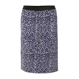 Afbeelding vanAdia plissé rok met panterprint lila/zwart