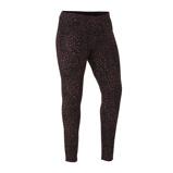 Afbeelding vanAdia legging met panterprint zwart/donkerrood