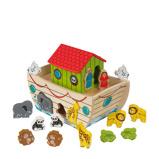 Afbeelding vanKidKraft houten Ark van Noach vormsorteerder