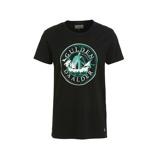 Afbeelding vanAmsterdenim T shirt Gulden met printopdruk zwart/groen/wit