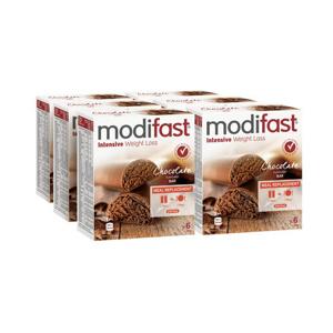 Afbeelding van 6x Modifast Snack & Meal Reep Melk Chocolade 6 x 31 gr