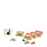 Afbeelding vanPhilos Speed Tangram houten vormenpuzzel 28 stukjes