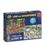 Afbeelding vanJumbo Jan van Haasteren 2 in 1 legpuzzel Kerst 2000 stukjes