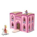 Afbeelding vanMelissa & Doug houten opvouwbaar prinsessenkasteel