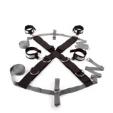 Afbeelding vanFifty Shades of Grey over the bed cross restrain zwart