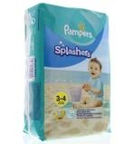 Afbeelding vanPampers Splashers Maat 3 4 (6 11 kg) 12 wegwerpbare zwemluiers