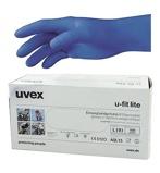 Afbeelding vanUvex Nitril Handschoen Blauw L 100 stuks