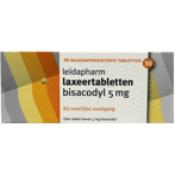 Afbeelding vanLeidapharm Laxeertabletten bisacodyl 5mg 30 tabletten