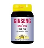 Afbeelding vanNHP Ginseng royal jelly 600 mg (30 capsules)