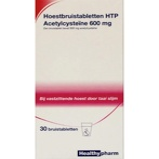 Afbeelding vanHealthypharm Acetylcysteine 600 Mg Htp, 30 Bruistabletten