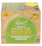 Afbeelding vanLeev Bio groene thee energie citroen & gember (14 zakjes)