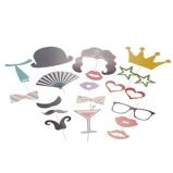 """Εικόνα του""""52pcs DIY Props foto colorida com vara para festa de Natal do casamento de aniversário do bigode dos vidros do chapéu Lips Decorações Criativas"""""""