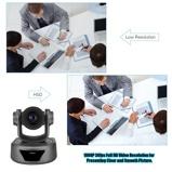 """Imagine din""""Aibecy Câmera de Vídeo conferência Webcam 10X Zoom Opcional Full HD 1080 P Cam 52 Graus de Largura de Exibição de Foco Automático com Controle Remoto USB2.0 para Reuniões de Negócios Salas de Reunião de Treinamento de Gravação"""""""