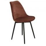 Afbeelding vanLeaf chair velvet roest / koper