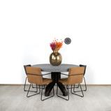 Afbeelding vanBetonlook ronde tafel Midland met stalen poot